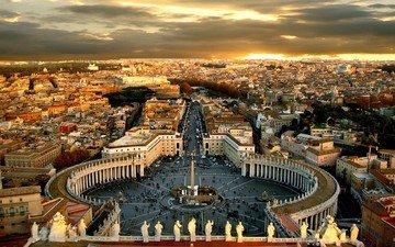 рим, площадь, святого, петра