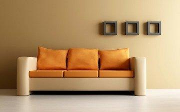 стиль, дизайн, дом, диван, комфорт