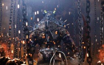машина, огонь, робот, монстр, модель, шипы, броня, черепа, цепи, the reaper, 3д