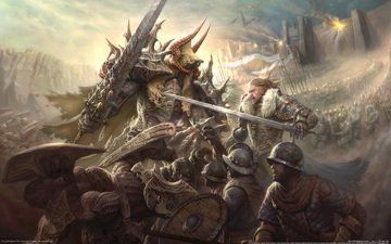 меч, война, фэнтези, бой, доспехи