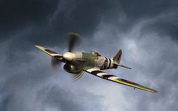 the sky, the plane, aviation