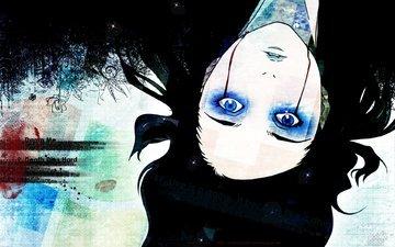 кроваво, глаза голубые, эрго прокси