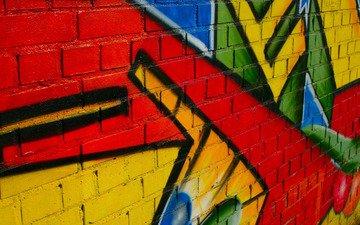 рисунок, стена, граффити