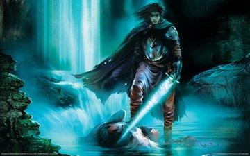 свет, вода, меч, плащ, магия, heroes of annihilated empires