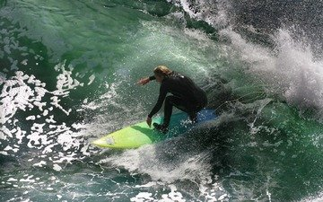 water, wave, sea, surfing