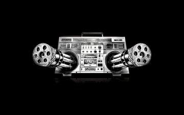 music, guns, tape, cassette, dangerous