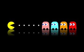 background, the game, pac man