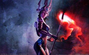 girl, glow, staff, armor, mag, sacred 2 fallen angel