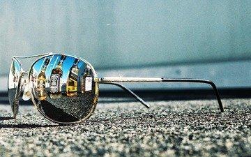 дорога, ситуации, асфальт, тратуар, солнечные очки