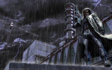 rain, stalker, nuclear power plant, shadow of chernobyl