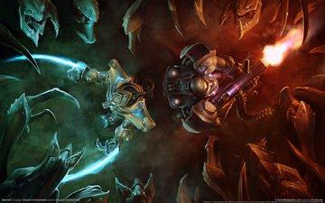 battle, fire, magic, starcraft 2