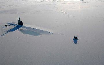 ice, the ocean, submarine
