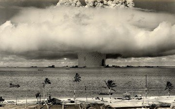 weapons, a nuclear explosion, the shock wave, nuke