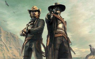 desert, call of juarez bound in blood, cowboys, western