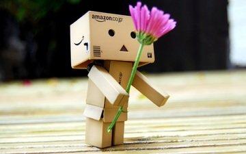 цветок, робот, подарок, игрушечная, danboard, данбо, цветком, короб