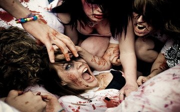 blood, girls, fight