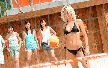 girl, mesh, the ball, bikini, doa, dead or alive, alive or dead, volleyball