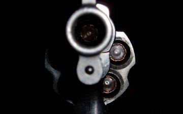 the barrel, black, cartridges, revolver
