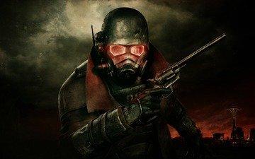 маска, радиация, new vegas, fallout3, магнум