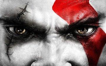 eyes, god of war, kratos