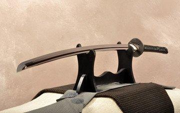 sword, katana, on the stand, without a sheath