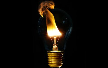 wallpaper, fire, lamp