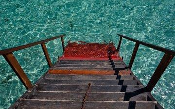 вода, лестница