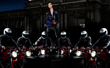 olga kurylenko, campari calendar 2010, motorcycles