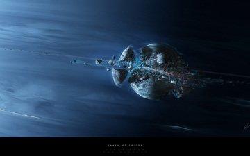 планета, осколки, взрыв