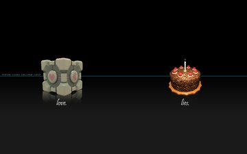 candle, cube, portal, cake