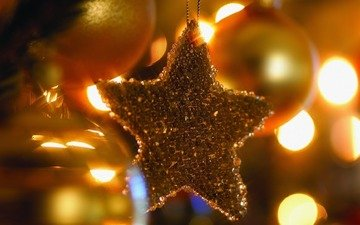 огни, новый год, елка, обои, макро, фото, фон, атмосфера, игрушки, праздник