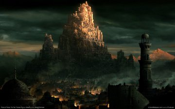 город, принц персии, башни, восток