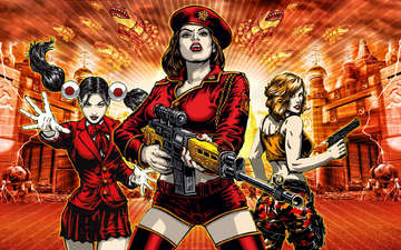 девушки, винтовка, red alert 3