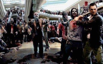зомби, dead rising, трупы, бита