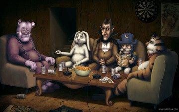 table, stoned, rest, smoke, sitting, sabbath