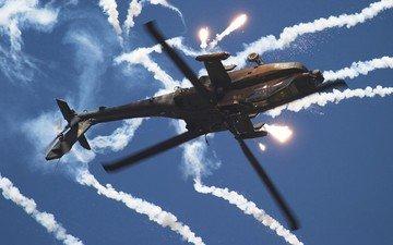 дым, вертолет, тепловые ловушки