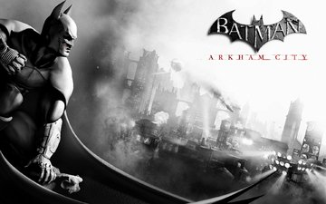 the city, hero, batman archam city, bat