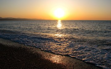 солнце, море, горизонт, черное