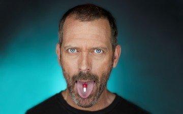house m.d., хью лори, язык, таблетки