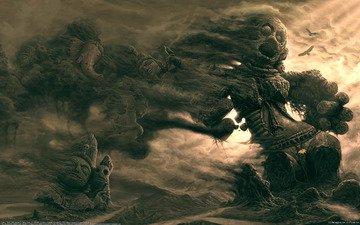 песок, дым, идолы