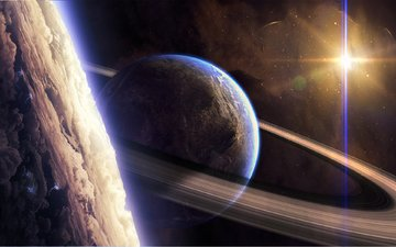 космос, планеты, звезда