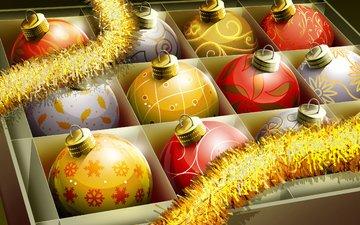 новый год, шары, украшения, игрушки