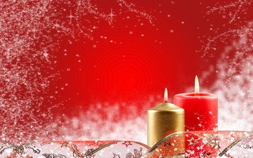candles, new year, red