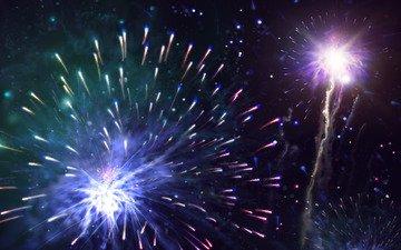 новый год, салют, праздник