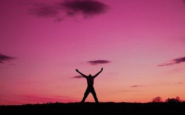 dawn, people, freedom, emotions
