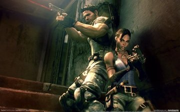 back, resident, 5, evil, sheva, chris, to