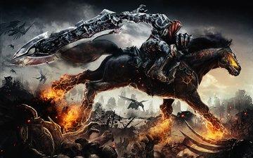 rider, horse, darksiders