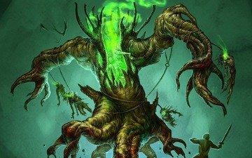 дерево, воин, монстр, нежить, diablo iii, мертвецы, энт