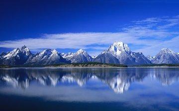 небо, вода, горы, природа, фон, пейзаж, ландшафт, на природе, валлпапер