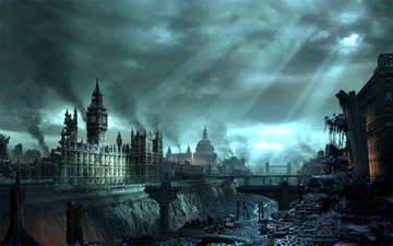 london, hellgate london, the end, light